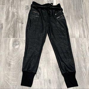 Dance & Marvel faux leather jogger- S